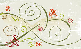 Rustic Grunge Flower. Rustic, grunge whimsical flower; Easy-edit file with grunge effect on separate layer royalty free illustration