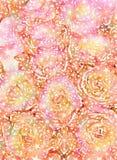 Rustic grungy antique floral rose bouquet background design Stock Photos