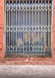 Rustic grungy iron industrial metal gate Royalty Free Stock Images