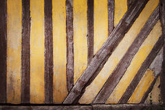 Rustic half timbered wall Royalty Free Stock Photo