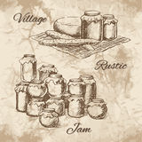 Rustic Hand drawn Royalty Free Stock Photo
