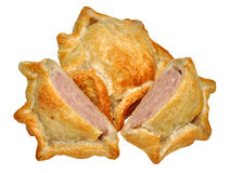 Rustic Handmade Pork Pies Stock Photography