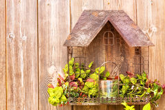 Rustic, handmade small house stock images