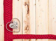 Rustic heart on wood Royalty Free Stock Photography
