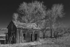 Rustic Home. Black and White of a rustic and delapidated old home Royalty Free Stock Image