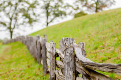 Rustic Home Made Split Rail Fence In The Mountains Of North Carolina Stock Photos