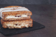 Rustic homemade grilled sandwiches Royalty Free Stock Photo