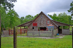 Rustic Horse Stable on Country Farm Royalty Free Stock Photos