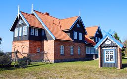 Rustic hotel. Small rustic hotel set in the Lithuanian countryside.Travel Europe Royalty Free Stock Photography
