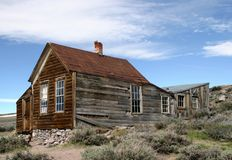 Rustic House in Bodie Ghost Town Royalty Free Stock Photography