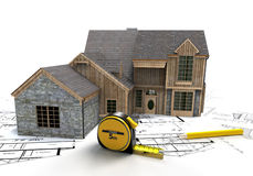 Rustic house construction Stock Photo