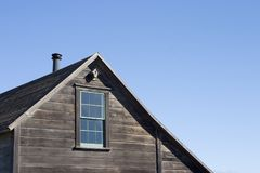 Rustic House Roof. A traditional looking house roof Royalty Free Stock Image
