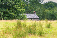 Rustic house. Small rustic house in the forest of Scotland Royalty Free Stock Images