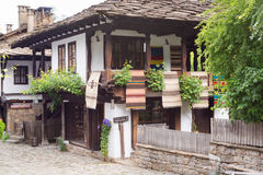 Rustic house in traditional Bulgarian village, Etara Stock Photography