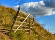 Rustic Hurdle Fence Stock Photos