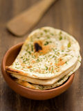 Rustic indian naan bread Royalty Free Stock Photos