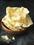Rustic indian papadum crisp Royalty Free Stock Image
