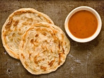 Rustic indian roti prata Royalty Free Stock Image