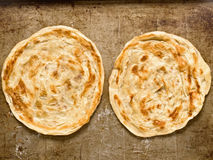 Rustic indian roti prata Royalty Free Stock Photo