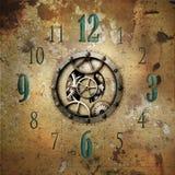 Rustic industrial style clockface