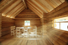 Rustic interior wooden house Royalty Free Stock Images