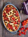 Rustic italian baked vegetable ragu Royalty Free Stock Photography