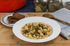 Rustic Italian Dinner stock images