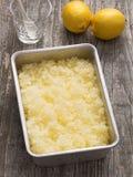 Rustic italian summer dessert lemon granita Stock Images