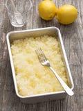 Rustic italian summer dessert lemon granita Royalty Free Stock Photos
