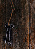 Rustic keys Stock Photo