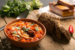 Rustic Kidney Bean Soup with beans and carrot Royalty Free Stock Image