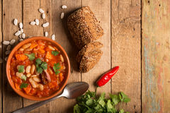 Rustic Kidney Bean Soup with beans and carrot Stock Photo