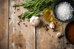 Rustic kitchen background Stock Images