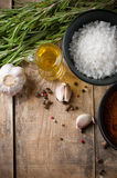 Rustic kitchen background Royalty Free Stock Photo