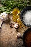 Rustic kitchen background Royalty Free Stock Images