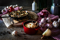 Rustic kitchen composition Stock Image
