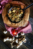 Rustic kitchen composition Stock Photos
