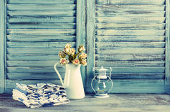 Rustic kitchen still life Stock Images