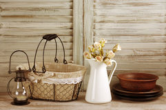 Rustic kitchen still life Royalty Free Stock Photography