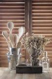 Rustic kitchen utensil Stock Images