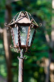 Rustic lamp close-up Royalty Free Stock Photos