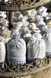 Rustic lavender packets Royalty Free Stock Images