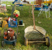 Rustic lawnmowers at an annual event in paducah Stock Images