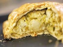 Rustic leek and potato pie Stock Photos