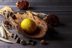 Rustic lemon Royalty Free Stock Photography