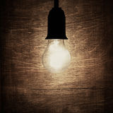Rustic light bulb Royalty Free Stock Images