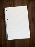 Rustic Lined Notepad Background Royalty Free Stock Photography