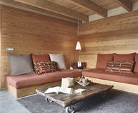 Rustic living room stock image