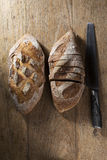 Rustic loaf of bread. Royalty Free Stock Image
