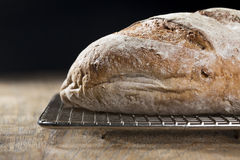 Rustic loaf of bread. Royalty Free Stock Photos